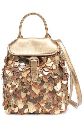 Рюкзак из металлизированной кожи | Фото №4