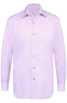 Мужская хлопковая сорочка с итальянским воротником  KITON розового цвета, арт. UCCEEP2/H0003706   Фото 1