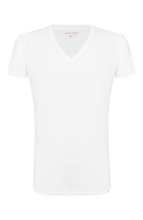 Мужская хлопковая футболка с v-образным вырезом ORLEBAR BROWN белого цвета, арт. 259687 | Фото 1