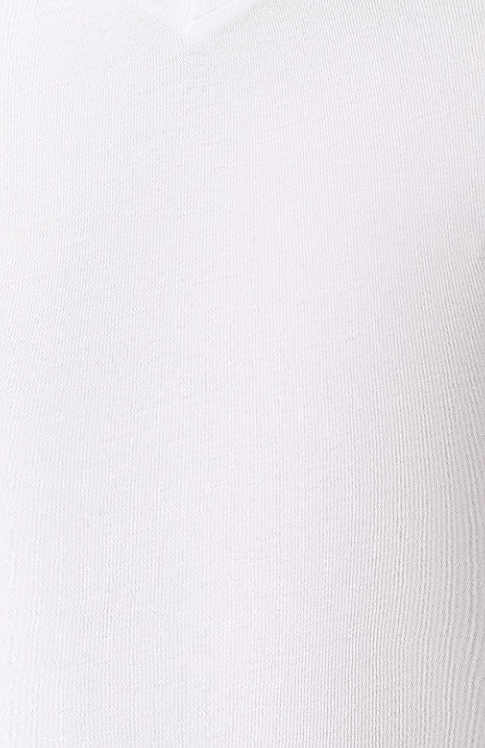 Мужская хлопковая футболка с v-образным вырезом ORLEBAR BROWN белого цвета, арт. 259687 | Фото 5 (Принт: Без принта; Рукава: Короткие; Длина (для топов): Стандартные; Материал внешний: Хлопок; Статус проверки: Проверено, Проверена категория; Стили: Кэжуэл)