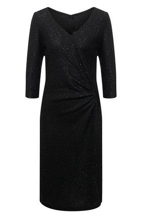Приталенное платье с пайетками и драпировкой | Фото №1
