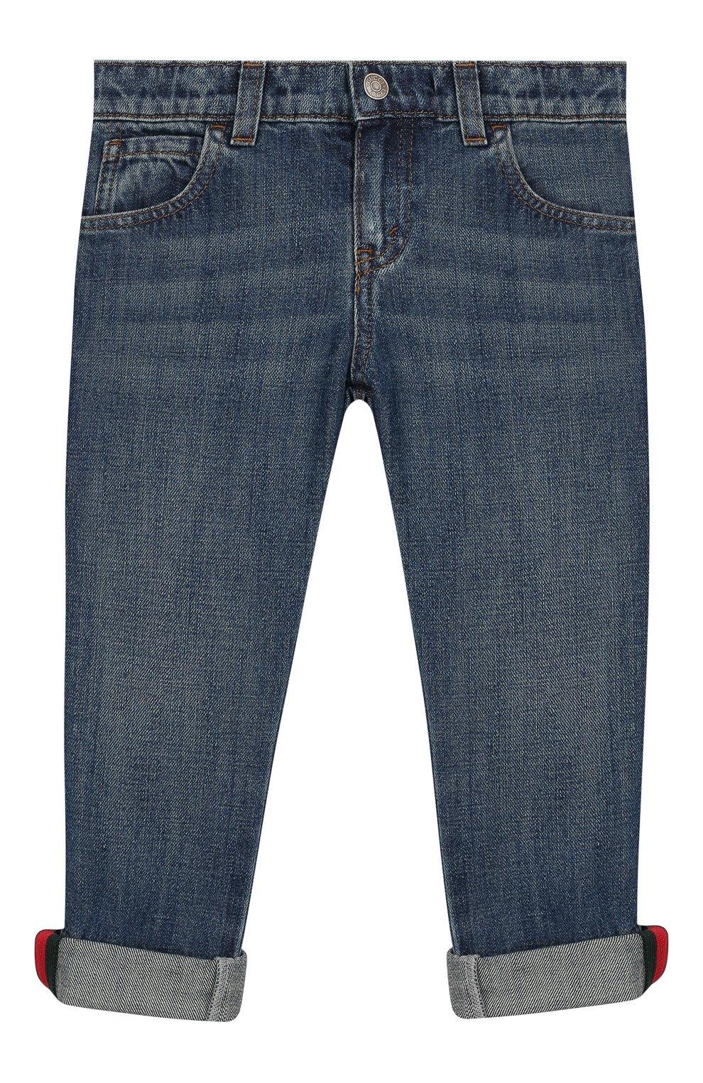 Детские джинсы GUCCI синего цвета, арт. 455454/XR384   Фото 1