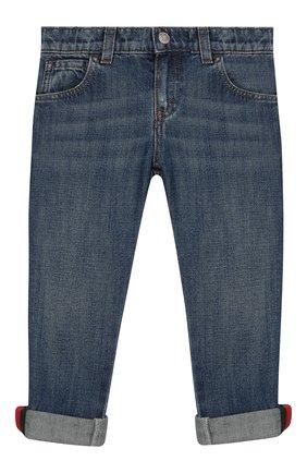 Детские джинсы GUCCI синего цвета, арт. 455454/XR384 | Фото 1