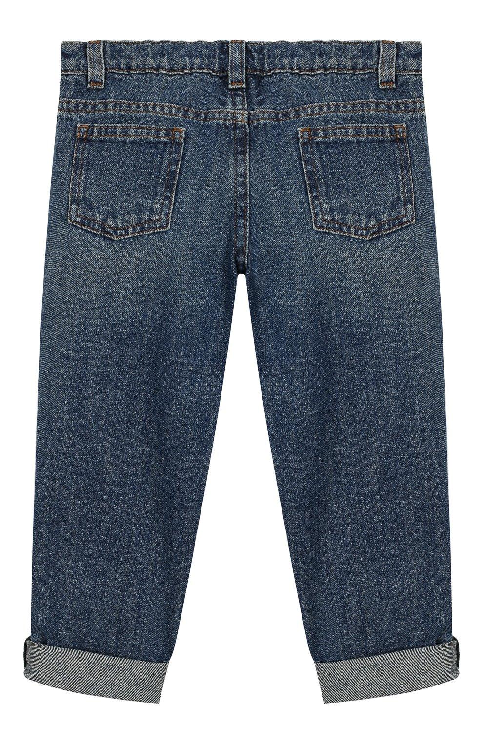Детские джинсы GUCCI синего цвета, арт. 455454/XR384   Фото 2