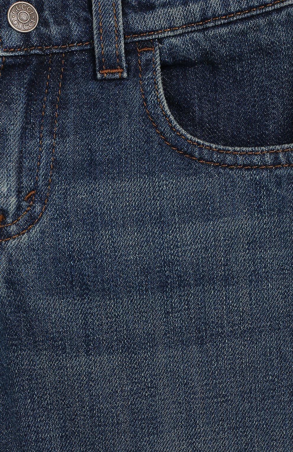 Детские джинсы GUCCI синего цвета, арт. 455454/XR384   Фото 3
