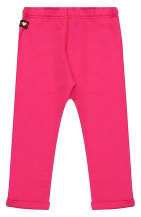 Детские брюки джерси с отворотами GUCCI розового цвета, арт. 458196/X5N29 | Фото 1