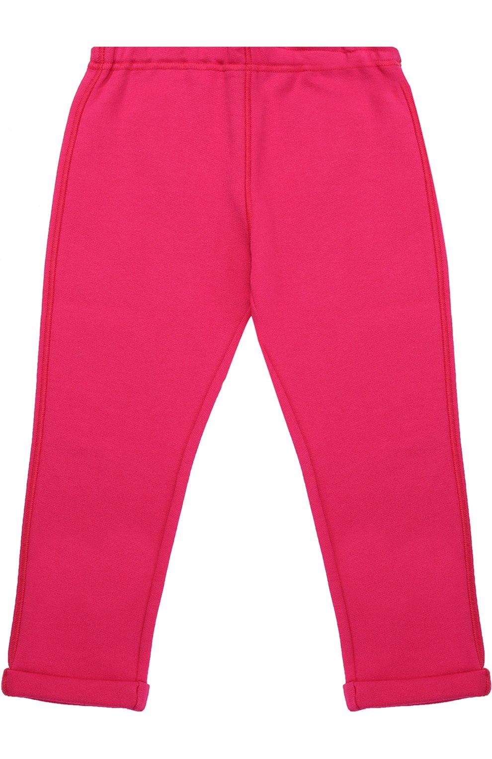 Детские брюки джерси с отворотами GUCCI розового цвета, арт. 458196/X5N29 | Фото 2