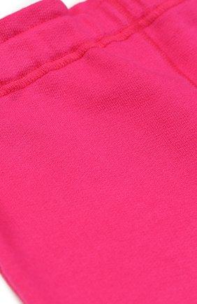 Детские брюки джерси с отворотами GUCCI розового цвета, арт. 458196/X5N29 | Фото 3