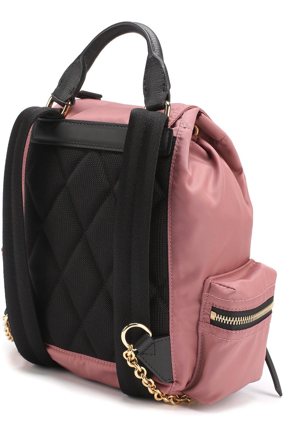 Рюкзак с отделкой из кожи   Фото №2