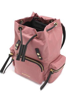 Рюкзак с отделкой из кожи   Фото №3