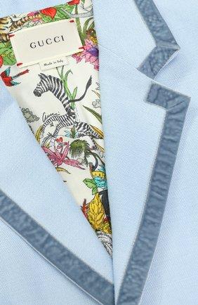 Льняной костюм с контрастной отделкой | Фото №3