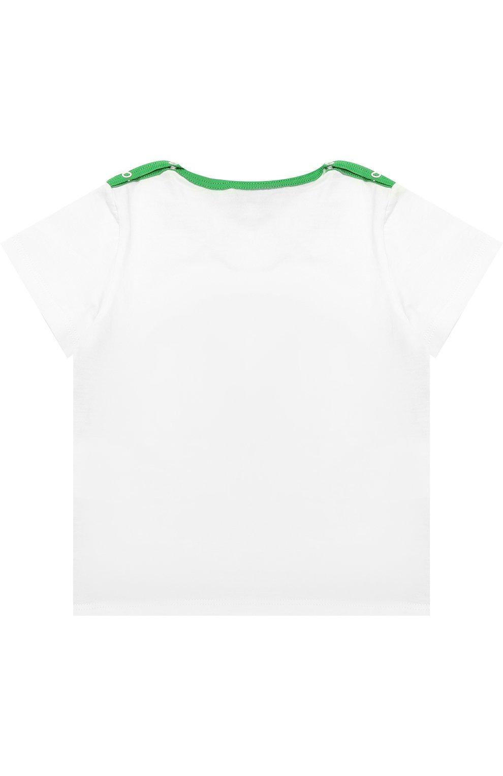 Детский хлопковая футболка с принтом GUCCI разноцветного цвета, арт. 456560/X5L11 | Фото 2