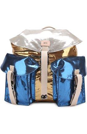 Рюкзак из металлизированной эко-кожи | Фото №1