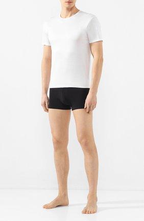 Мужские хлопковая футболка с круглым вырезом DEREK ROSE белого цвета, арт. 8000-LEWI001 | Фото 2