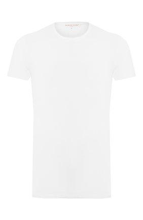 Мужские хлопковая футболка с круглым вырезом DEREK ROSE белого цвета, арт. 8005-JACK001 | Фото 1