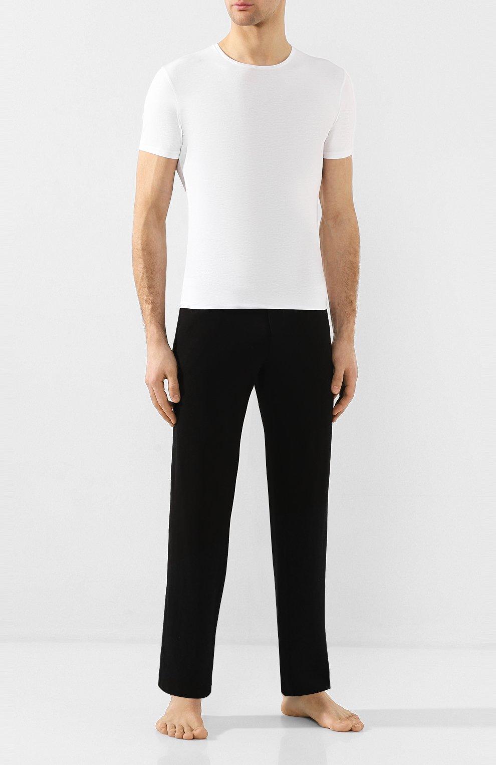 Мужская хлопковая футболка с круглым вырезом DEREK ROSE белого цвета, арт. 8005-JACK001 | Фото 2