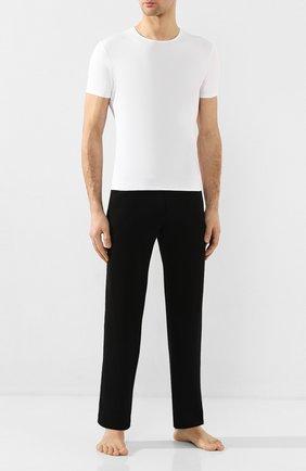 Мужские хлопковая футболка с круглым вырезом DEREK ROSE белого цвета, арт. 8005-JACK001 | Фото 2
