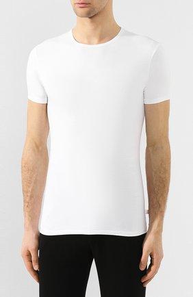 Мужская хлопковая футболка с круглым вырезом DEREK ROSE белого цвета, арт. 8005-JACK001 | Фото 3