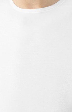 Мужская хлопковая футболка с круглым вырезом DEREK ROSE белого цвета, арт. 8005-JACK001 | Фото 5