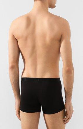 Мужские хлопковые боксеры DEREK ROSE черного цвета, арт. 8565-JACK001 | Фото 3 (Кросс-КТ: бельё; Материал внешний: Хлопок; Мужское Кросс-КТ: Трусы)
