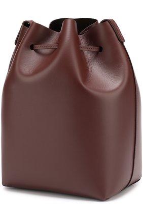 Сумка Bucket с косметичкой Mansur Gavriel бордовая цвета   Фото №1