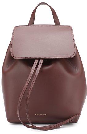Кожаный рюкзак с клапаномMini Backpack | Фото №1