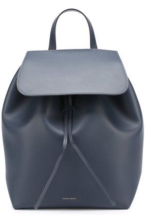 Кожаный рюкзак с клапаном   Фото №1