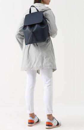 Кожаный рюкзак с клапаном   Фото №2