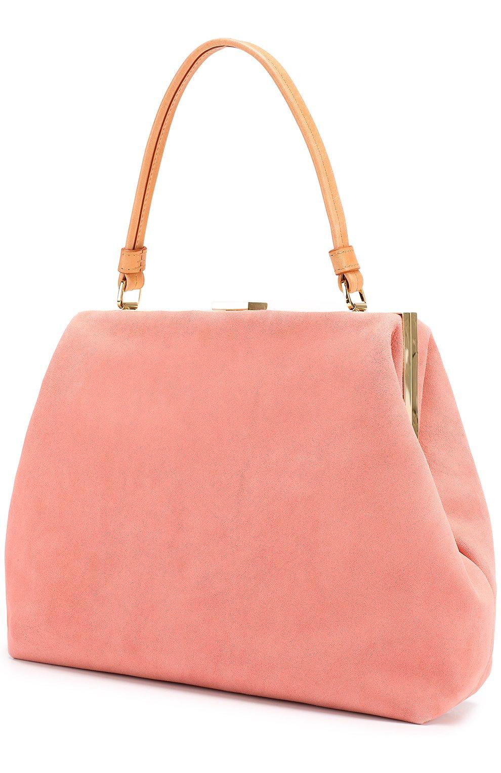 337905311b06 Женская замшевая сумка elegant MANSUR GAVRIEL розового цвета ...