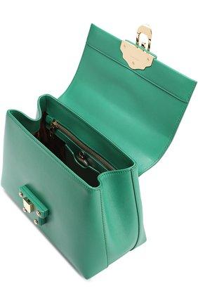 Сумка Lucia small с декорированной ручкой Dolce & Gabbana зеленая цвета | Фото №4