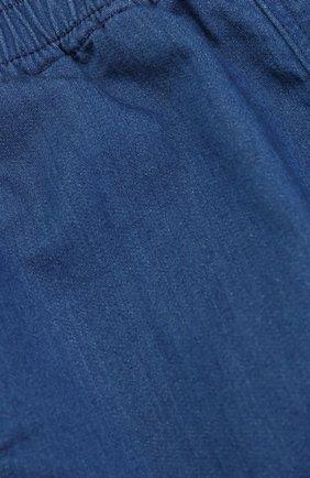 Детские джоггеры из денима и контрастной отделкой GUCCI синего цвета, арт. 456044/X5N35   Фото 3