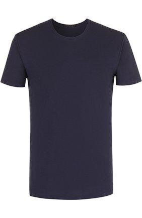 Мужские хлопковая футболка  LA PERLA темно-синего цвета, арт. P022168 | Фото 1