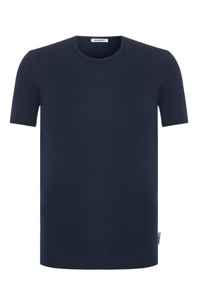 Мужская хлопковая футболка с круглым вырезом DIRK BIKKEMBERGS темно-синего цвета, арт. B41302T44 | Фото 1