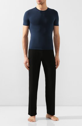 Мужская хлопковая футболка с круглым вырезом DIRK BIKKEMBERGS темно-синего цвета, арт. B41302T44 | Фото 2