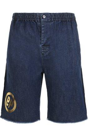 Джинсовые шорты с поясом на резинке Sold out синие | Фото №1