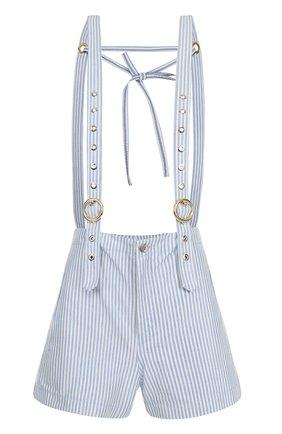 Мини-шорты в полоску с подтяжками