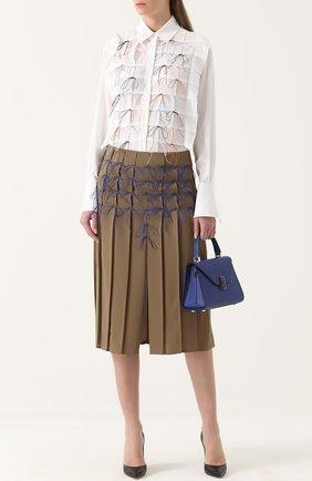 Женская удлиненная хлопковая блуза с декоративной отделкой Marco de Vincenzo, цвет белый, арт. MD5305/9LC в ЦУМ | Фото №1
