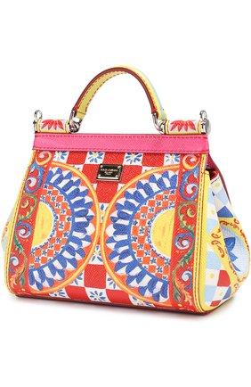 Сумка Sicily small с принтом Dolce & Gabbana разноцветная цвета   Фото №3