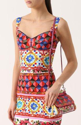 Сумка Sicily small с принтом Dolce & Gabbana разноцветная цвета   Фото №5