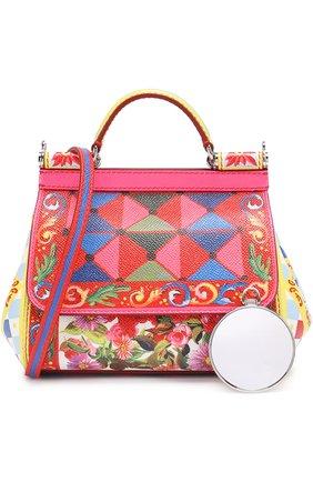 Сумка Sicily small с принтом Dolce & Gabbana разноцветная цвета   Фото №6