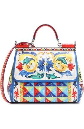 Сумка Sicily medium с принтом Dolce & Gabbana разноцветная цвета | Фото №1