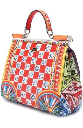 Сумка Sicily medium с принтом Dolce & Gabbana разноцветная цвета | Фото №3