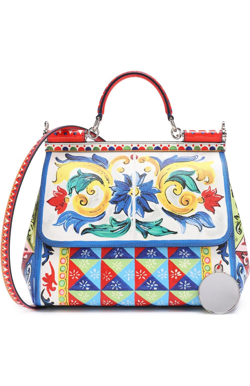 Сумка Sicily medium с принтом Dolce & Gabbana разноцветная цвета | Фото №6