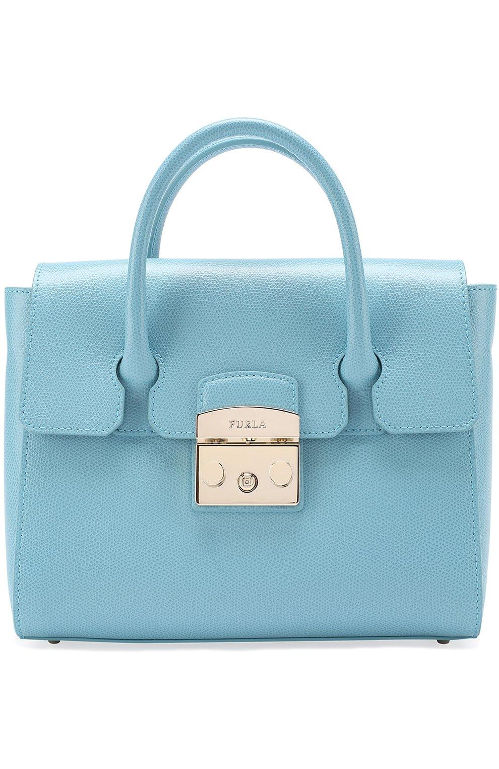 Женская сумка-тоут metropolis FURLA голубого цвета — купить за 29000 ... 02972d94c26