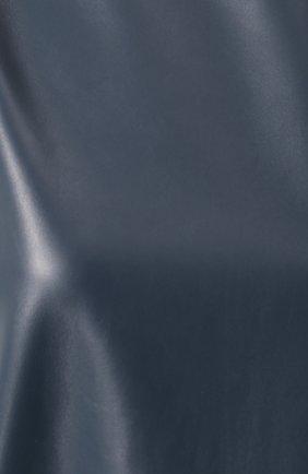 Кожаное платье прямого кроя без рукавов Lanvin синее   Фото №5