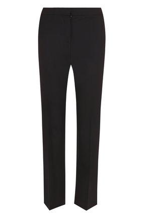 Укороченные брюки прямого кроя со стрелками Diane Von Furstenberg синие   Фото №1