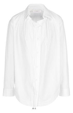 Женская хлопковая блуза прямого кроя с защипами Aquilano Rimondi, цвет белый, арт. 11-072 TE2132 в ЦУМ | Фото №1