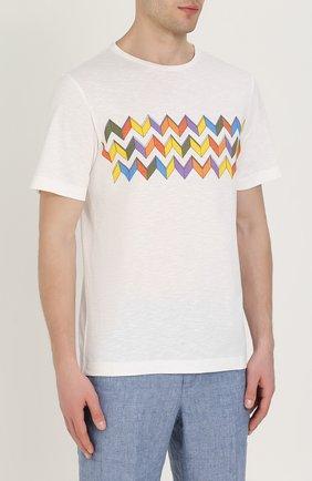 Хлопковая футболка с принтом | Фото №3