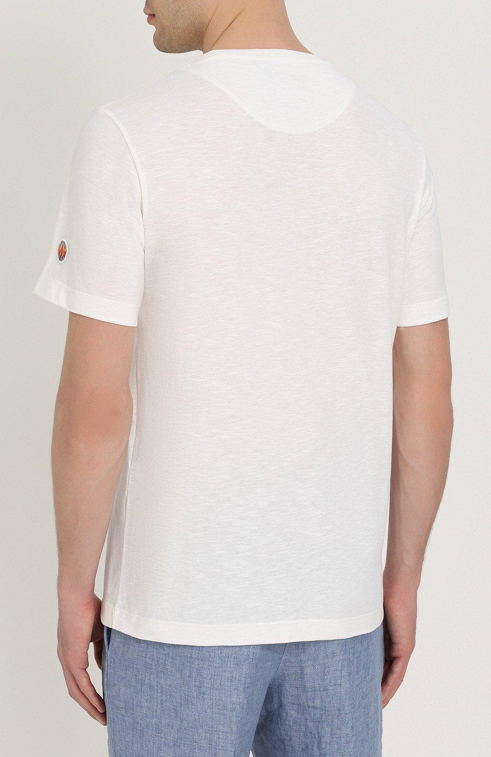 Хлопковая футболка с принтом | Фото №4