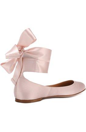 6cbddcd476ee Женские розовые атласные балетки odette с лентами на щиколотке ...
